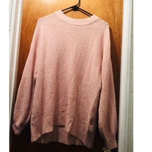 American Eagle Oversized Light Pink Sweater